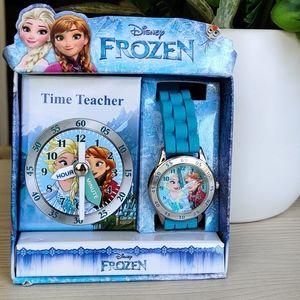 Disney Frozen, kids Time Teacher Watch, Blue